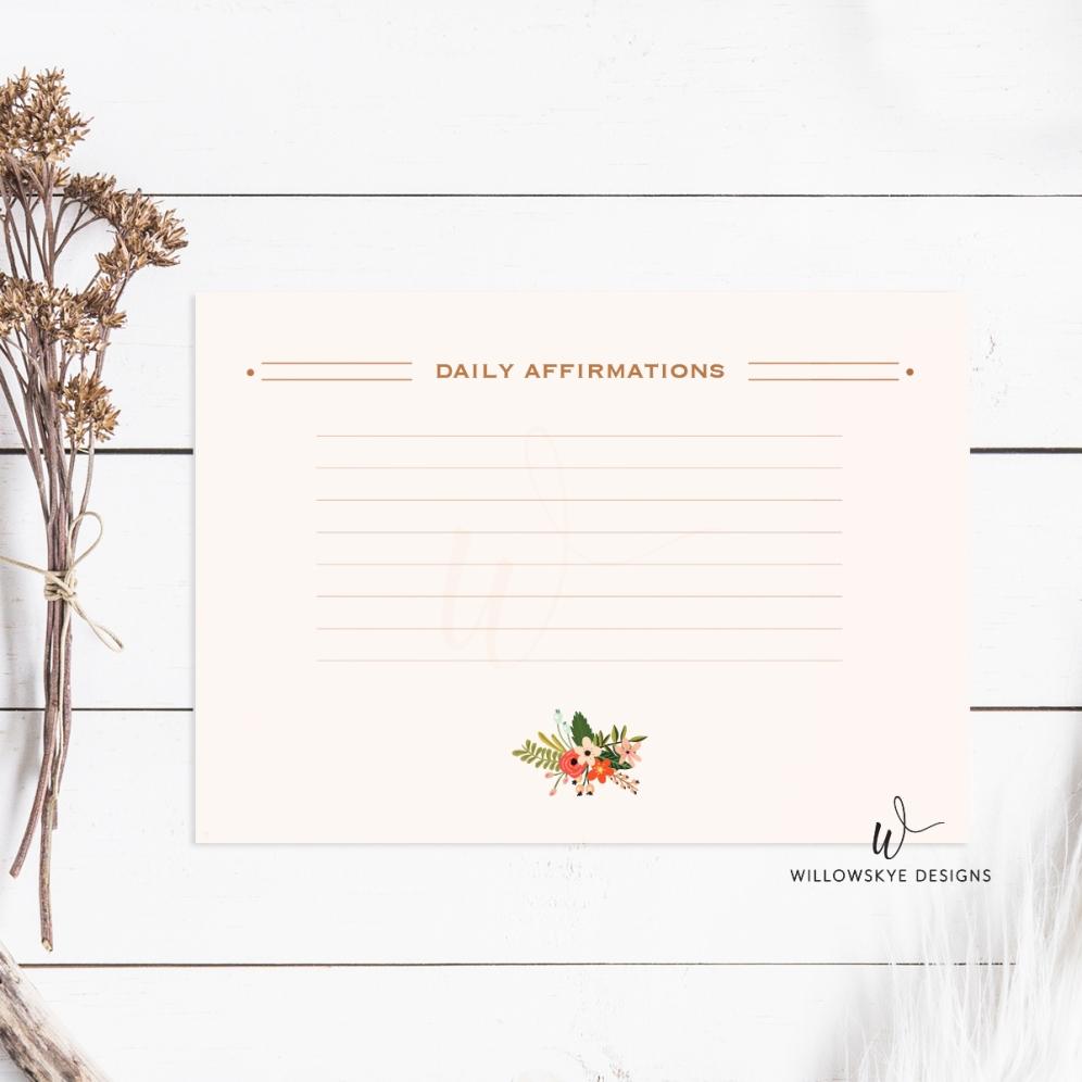 Affirmations Card Setup